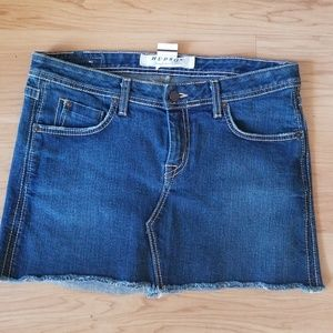 Hudson mini  Blue Jean Skirt